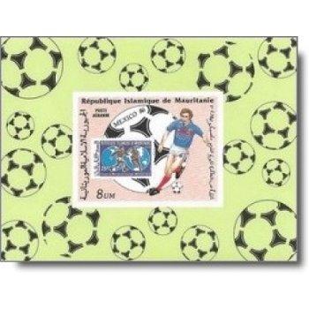 Fußball-Weltmeisterschaft 1986 - 5 Luxusblocks postfrisch, Katalog-Nr. 876-880, Mauretanien