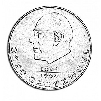 """20-Mark-Münze 1973 """"Otto Grotewohl"""", DDR"""
