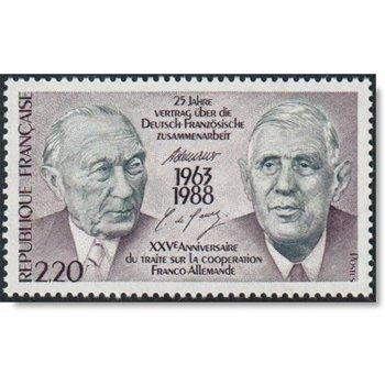 Charles de Gaulle, Konrad Adenauer - Briefmarke postfrisch, Katalog-Nr. 2636, Frankreich