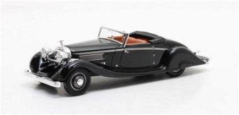 Modellauto:Hispano Suiza K6 Cabriolet Brandone von 1935, schwarz(Matrix, 1:43)