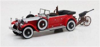 Modellauto:Rolls-Royce Phantom Barker Torpedo Tourer HRH mit KanoneMaharaja of Kota 1925(Matrix, 1:4