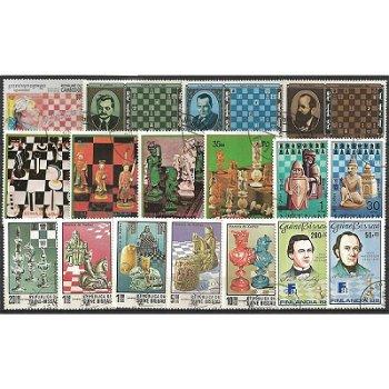 Schach - 50 verschiedene Briefmarken