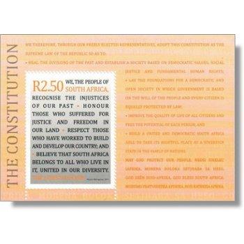 15 Jahre Verfassung der Republik Südafrika - Briefmarken-Block postfrisch, Katalog-Nr. 2047 Bl. 128,