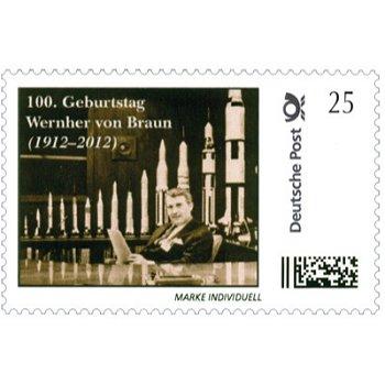 Space: Wernher von Braun - Individual brand, mint never hinged, Germany