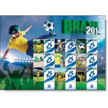 Fußball-Weltmeisterschaft - Briefmarken-Block postfrisch, Israel
