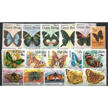 Schmetterlinge - 500 verschiedene Briefmarken