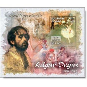 Edgar Degas - Briefmarken-Block postfrisch, Salomon-Inseln