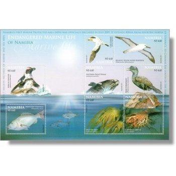 Leben im Meer - Biefmarken-Block postfrisch, Katalog-Nr. 1371-1378 Bl. 77, Namibia