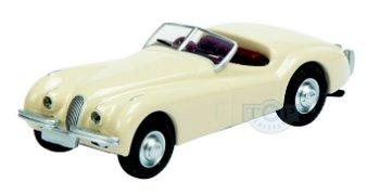 Modellauto:Jaguar XK 120, beige(Schuco, 1:87)