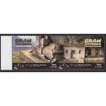 Die große Höhle von Huayna Picchu - 2 Briefmarken postfrisch, Peru