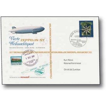 Zeppelin NT, Friedrichshafen - Engelburg - Altenrhein - Weihnachtspost 2001, Beleg, Schweiz