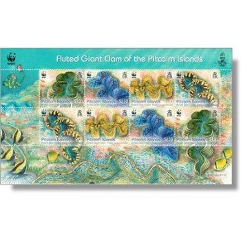 Weltweiter Naturschutz: Schuppige Riesenmuschel - Briefmarken-Block postfrisch, Katalog-Nr. 865-868,