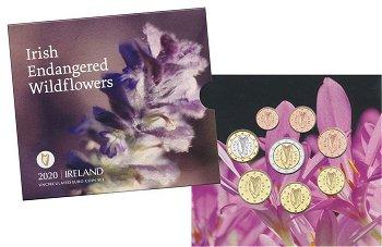 Gefährdete irische Wildblumen - Kursmünzensatz 2020, Irland
