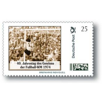 40th anniversary of winning the 1974 World Cup - Individuell brand mint never hinged, Germany