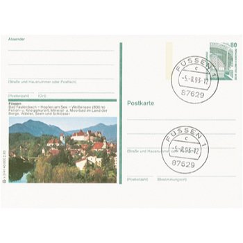 8958 Füssen - Bildpostkarte