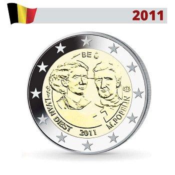 Internationaler Frauentag, 2 Euro Münze 2011, Belgien