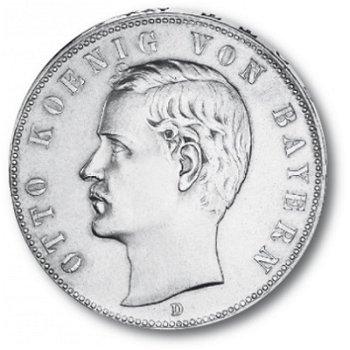 5 Mark Silbermünze, König Otto, Katalog-Nr. 46, Königreich Bayern