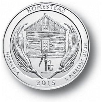Homestead/Nebraska, Nationalpark Quarter Münze, USA