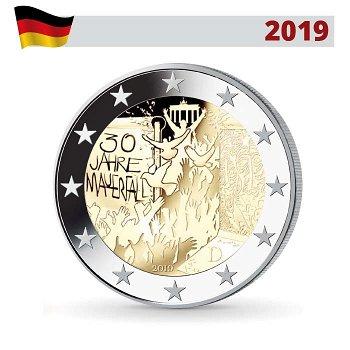 30 Jahre Mauerfall, 2 Euro 2019, 1 Prägezeichen, Deutschland