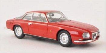 Modellauto:Alfa Romeo 2600 Sprint Zagato von 1967, rot(NEO, 1:43)