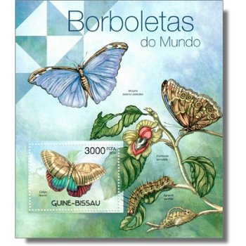 Schmetterlinge - Briefmarken-Block postfrisch, Katalog-Nr. 5891 Bl. 1040, Guinea-Bissau