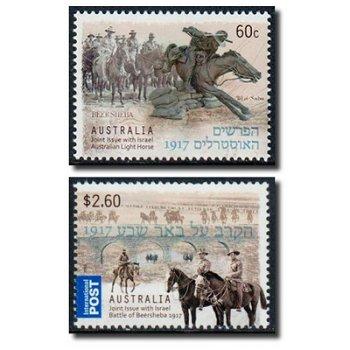 Schlacht von Be´er Scheva - 2 Briefmarken postfrisch, Australien