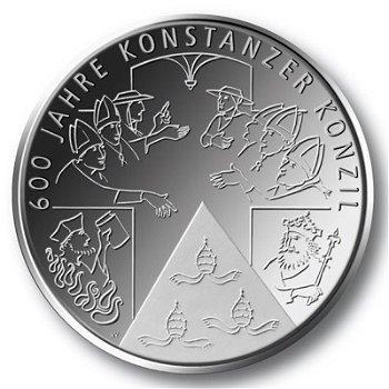 600 Jahre Konstanzer Konzil, 10-Euro-Gedenkmünze 2014, Stempelglanz