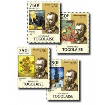 Vincent van Gogh - 4 Briefmarken postfrisch, Togo