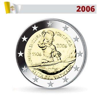 2 Euro Münze 2006, 500 Jahre Schweizer Garde, Vatikan