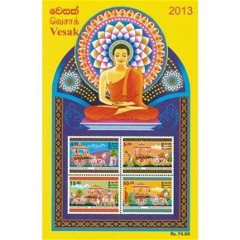 Buddhistischer Feiertag VESAK - Briefmarkenblock postfrisch, Sri Lanka