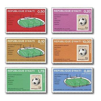 Vorspiel zur WM 1974: 1973 in Haiti - 6 Briefmarken postfrisch, Haiti