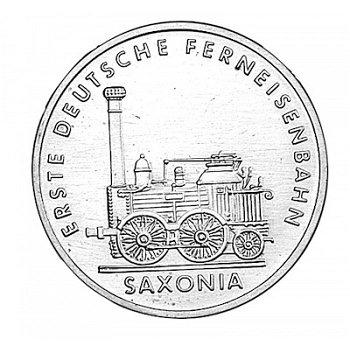 5-Mark-Münze 1988, 150 Jahre Ferneisenbahn - Saxonia, DDR