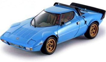 Modellauto:Lancia Stratos Stradale von 1975, blau(Sun Star, 1:18)