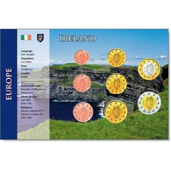 Euro Kursmünzensatz mit Zertifikat, Irland