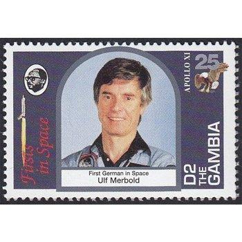Weltraum: Astronaut Ulf Merbold - Briefmarke postfrisch, Gambia