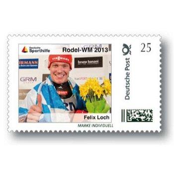 Rodel-WM 2013, Felix Loch - Marke Individuell postfrisch, Deutschland