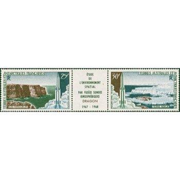 Abschußbasen für Ionosphärenforschung - 2 Briefmarken postfrisch, Kat.-Nr. 42-43, Französische Geb.