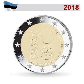 100 Jahre Republik, 2 Euro Gedenkmünze 2018, Estland