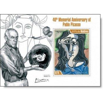 Pablo Picasso - Briefmarken-Block postfrisch, Katalog-Nr. 4952, Malediven