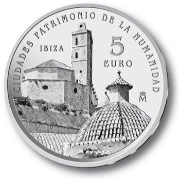 UNESCO Weltkulturerbe/Ibiza, 5 Euro Silbermünze Spanien