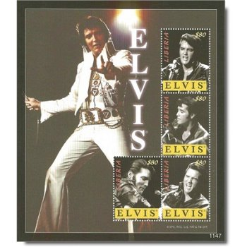 Elvis Presley - Briefmarken-Block postfrisch, Liberia