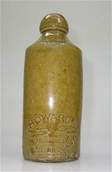 Bierflasche aus Steingut