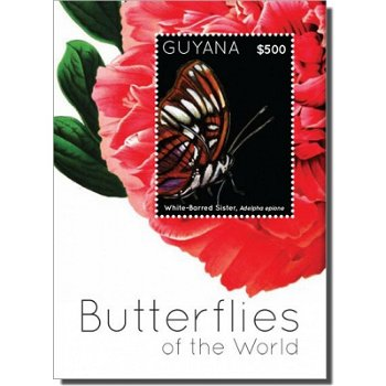 Schmetterlinge - Briefmarken-Block, Guyana