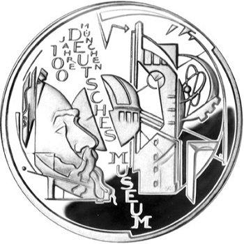 100 Jahre Deutsches Museum, 10-Euro-Silbermünze 2003, Polierte Platte