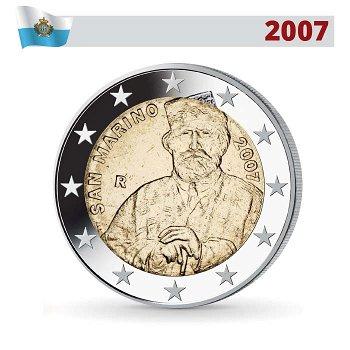 2 Euro Münze 2007, Giuseppe Garibaldi, San Marino