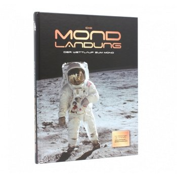 50 Jahre Mondlandung - Buch mit rundem Mondmarkenblock, Österreich