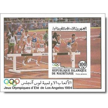 Olympische Sommerspiele, Los Angeles - Briefmarken-Block ungezähnt postfrisch, Katalog-Nr. 826 Bl. 5