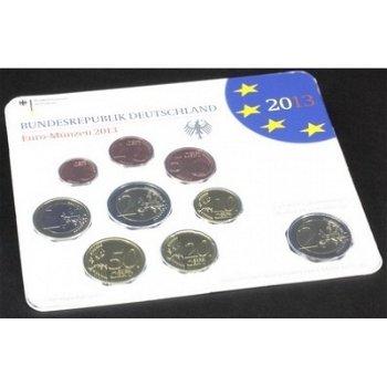 Kursmünzensatz 2013 - Deutschland im Folder, Polierte Platte, mit allen fünf Prägezeichen