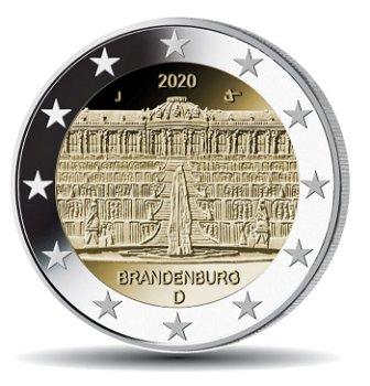 Schloss Sanssouci, 2 Euro 2020, 1 Prägezeichen, Deutschland