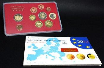 Kursmünzsatz 2012 - Deutschland im Folder, Polierte Platte, ohne Auswahl der Prägestätten